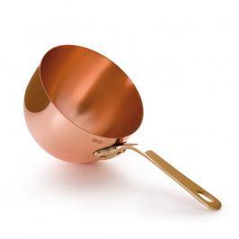 MAUVIEL Medená miska na zabaglione s bronzovou rukoväťou Ø 16 cm