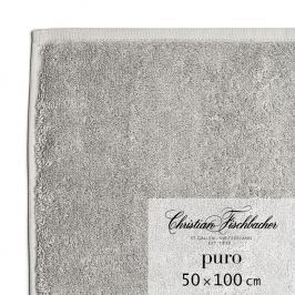 Christian Fischbacher Uterák 50 x 100 cm grafitový Puro, Fischbacher