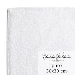 Christian Fischbacher Uterák na ruky/tvár 30 x 30 cm biely Puro, Fischbacher