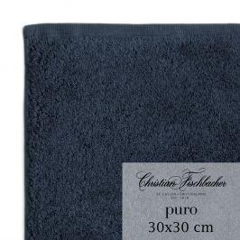 Christian Fischbacher Uterák na ruky/tvár 30 x 30 cm kobaltovo modrý Puro, Fischbacher
