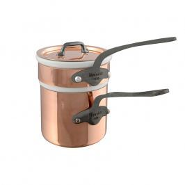 MAUVIEL Medená rajnica s liatinovou rukoväťou Ø 10,5 cm na varenie vo vodnom kúpeli