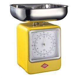 Wesco Kuchynská váha s hodinami citrónová