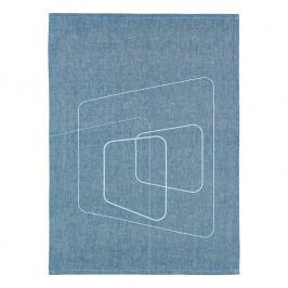 ZONE Kuchynská utierka squares blue DRY ART