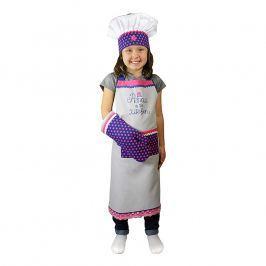 MÜkitchen Detská súprava zástera, chňapka a kuchárska čiapka MiniMÜ® princezná