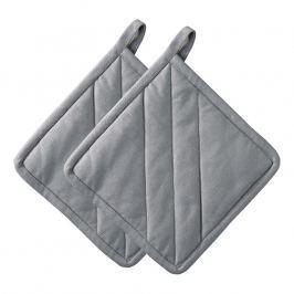 ZONE Súprava 2× kuchynská chňapka štvorcová grey