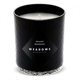 Meadows Vonná sviečka Opulent Mahogany medium čierna