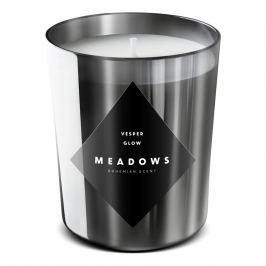 Meadows Vonná sviečka Vesper Glow medium strieborná