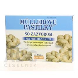 MÜLLEROVE PASTILKY SO ZÁZVOROM (zahriatie) 1x12 ks