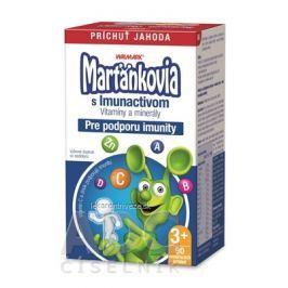 WALMARK Marťankovia s Imunactivom cmúľacie tablety, príchuť jahoda, 1x90 ks