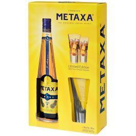 Metaxa 5* s 2 pohármi 38% 0,7l