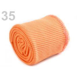 Úplety elastické polyesterové sada marhulová 10sada