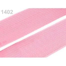 Guma hladká šírka 20mm tkaná farebná ČESKÝ VÝROBOK Candy Pink 25m