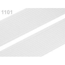 Guma hladká šírka 30mm tkaná ČESKÝ VÝROBOK White 25m