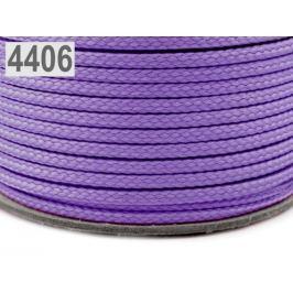 Odevná šnúra PES Ø4 mm Violet Tulip 100m