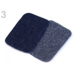 Nažehlovacie záplaty riflové 7,6x4,9 cm modrá temná 1sáčok