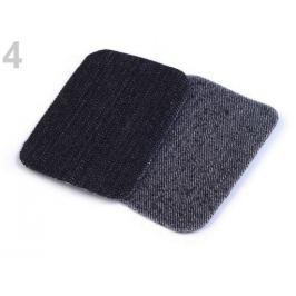 Nažehlovacie záplaty riflové 7,6x4,9 cm čierna 50sáčok