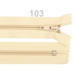 Špirálový zips šírka 5 mm dĺžka 40 cm bundový POL Antique White 50ks