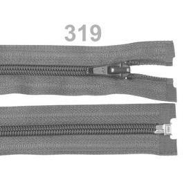 Špirálový zips šírka 5 mm dĺžka 70 cm bundový POL Steel Gray 10ks