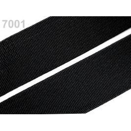 Guma hladká šírka 15mm tkaná ČESKÝ VÝROBOK Black 25m