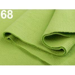 Úplety elastické rebrované - 16x80 cm Lime Green 1ks