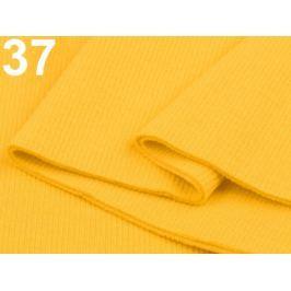 Úplety elastické rebrované - 16x80 cm Lemon 3ks