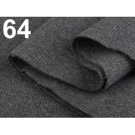Úplety elastické rebrované - 16x80 cm Charcoal Gray 3ks