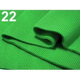 Úplety elastické rebrované - 16x80 cm Classic Green 10ks