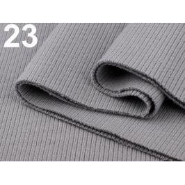 Úplety elastické rebrované - 16x80 cm Flint Gray 10ks