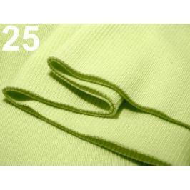 Úplety elastické rebrované - 16x80 cm Mellow Green 10ks