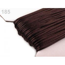 Šnúra Ø2mm saténová Bitter Chocolate 1000m Stoklasa