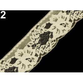 Čipka syntetická šírka 70 mm Vanilla Ice 25m