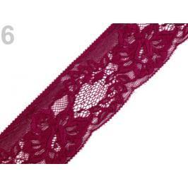 Čipka syntetická šírka 70 mm Bordeaux 25m