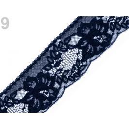 Čipka syntetická šírka 70 mm Insignia Blue 25m