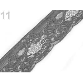 Čipka syntetická šírka 70 mm Charcoal Gray 25m