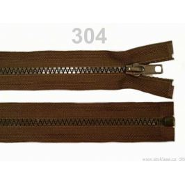 Kostený zips šírka 5 mm dĺžka 30 cm bundový Chocolate Brown 25ks Stoklasa