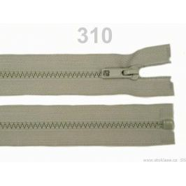 Kostený zips šírka 5 mm dĺžka 30 cm bundový Gull Gray 25ks Stoklasa