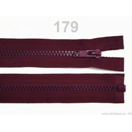 Kostený zips šírka 5 mm dĺžka 30 cm bundový Biking Red 25ks Stoklasa