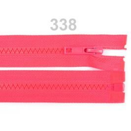 Kostený zips šírka 5 mm dĺžka 30 cm bundový Pink Lemonade 25ks Stoklasa