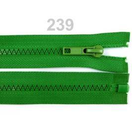Kostený zips šírka 5 mm dĺžka 30 cm bundový Fern Green 25ks Stoklasa