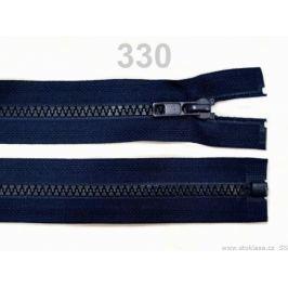 Kostený zips šírka 5 mm dĺžka 50 cm bundový Medieval Blue 1ks Stoklasa