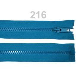 Kostený zips šírka 5 mm dĺžka 65 cm bundový Blue Danube 1ks Stoklasa