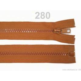 Kostený zips šírka 5 mm dĺžka 65 cm bundový Bombay Brown 100ks Stoklasa