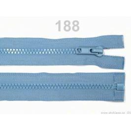Kostený zips šírka 5 mm dĺžka 65 cm bundový Placid Blue 100ks Stoklasa