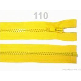 Kostený zips šírka 5 mm dĺžka 70 cm bundový Lemon 1ks Stoklasa