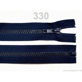 Kostený zips šírka 5 mm dĺžka 75 cm bundový Medieval Blue 1ks Stoklasa