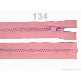 Kostený zips šírka 5 mm dĺžka 75 cm bundový Rose Shadow 10ks Stoklasa