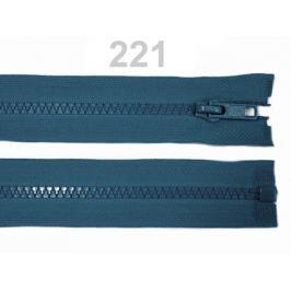 Kostený zips šírka 5 mm dĺžka 75 cm bundový Blue Coral 100ks Stoklasa