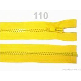 Kostený zips šírka 5 mm dĺžka 85 cm bundový Lemon 10ks Stoklasa