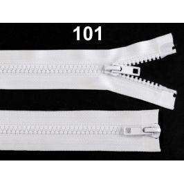 Zips kostený 5mm deliteľný 2 bežce 50 cm bundový White 100ks Stoklasa