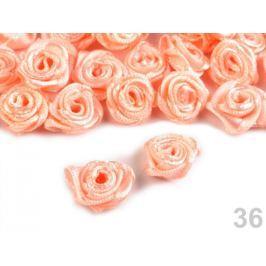Textilná ružička Ø12-15 mm Apricot Sherbet 150ks Stoklasa